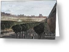 Paris: Palais Royal, 1821 Greeting Card