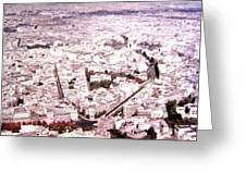 Paris Panorama 1955  Greeting Card