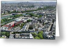 Paris Panorama From The Eiffel Tower Greeting Card