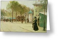 Paris Greeting Card by Paul Cornoyer