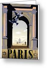 Paris Poster Greeting Card