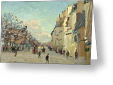 Paris Quai De Bercy Snow Effect Greeting Card