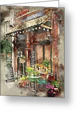 Paris Restaurant 5 - By Diana Van Greeting Card