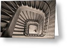 Paris Staircase - Sepia Greeting Card