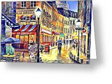 Paris Street Abstract 2 Greeting Card