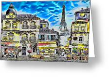 Paris Street Abstract 3 Greeting Card
