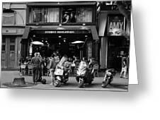 Paris Street Life 4b Greeting Card
