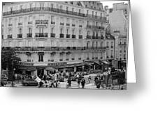Paris Street Scene Greeting Card