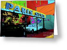 Paris Style Greeting Card