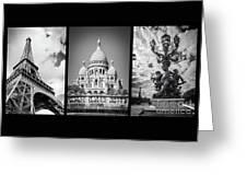 Paris Triptych Greeting Card