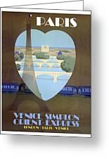 Paris Venice Railway, Orient Express Greeting Card