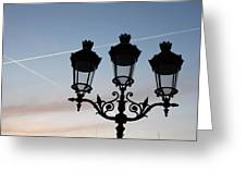 Parisian Lights By Notre Dame Greeting Card