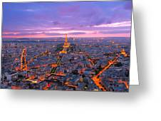 Parisian Nights Paris Greeting Card
