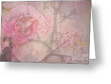 Parisian Romantic Collage Greeting Card