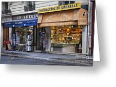 Parisian Shops Greeting Card