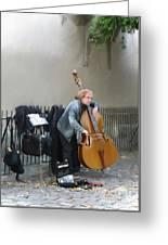 Parisian Street Musician Greeting Card