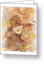 Parisienne 1930 Greeting Card