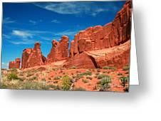 Park Avenue, Arches National Park Greeting Card