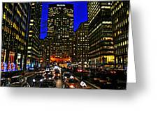 Park Avenue At Night Greeting Card
