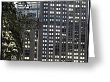 Park Avenue Met Life Nyc Greeting Card by Juergen Held