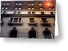 Park Avenue Sunglare Greeting Card