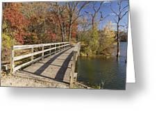 Park Bridge Autumn 2 Greeting Card