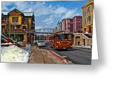 Park City Trolley Car Greeting Card