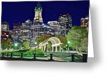 Park Entrance In Boston Greeting Card