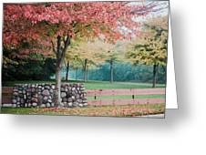 Park In Autumn/fall Colors Greeting Card