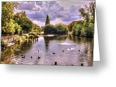 Park Lake Greeting Card