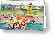 Park Side Beaches Greeting Card