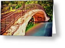 Park Walk Bridge Greeting Card