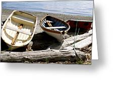 Parked Boats Greeting Card