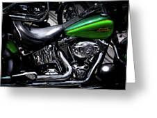 Parked Harleys Greeting Card