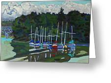Parked Yachts Greeting Card