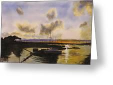 Parker's Boatyard II Greeting Card