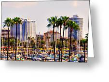Parking And Palms In Long Beach Greeting Card