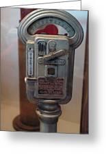 Parking Meter Change Greeting Card