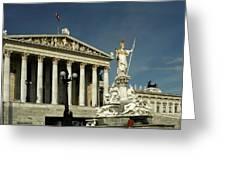 Parliament In Vienna Austria Greeting Card