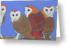 Parliament Of Owls Greeting Card