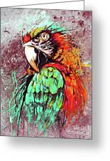 Parrot Art 09i Greeting Card