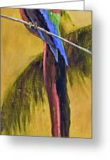 Parrot Is A Character With Gold Leaf By Vic Mastis Greeting Card by Vic  Mastis
