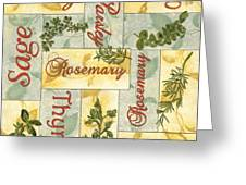 Parsley Collage Greeting Card by Debbie DeWitt