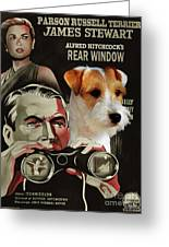 Parson Russell Terrier Art Canvas Print - Rear Window Movie Poster Greeting Card