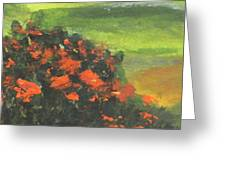 Part Of Scene From Cypress Creek Golf Painting Greeting Card