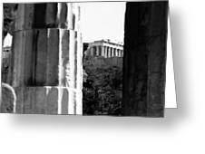 Parthenon From The Temple Of Hephaistos Athens Greeting Card