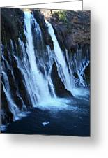 Partial Side View Of Burney Falls Ca Greeting Card