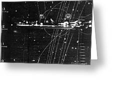Particles Pass Through Lead Shielding Greeting Card