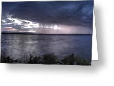 Parting Skies Over Union Reservoir Greeting Card