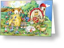 Party At The Farm Greeting Card